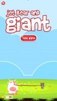 Jet Bear and Giant - Start Screen