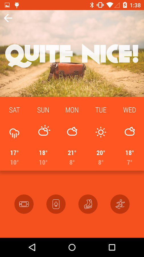 Kairoskopion – weather app with simple & beautiful design