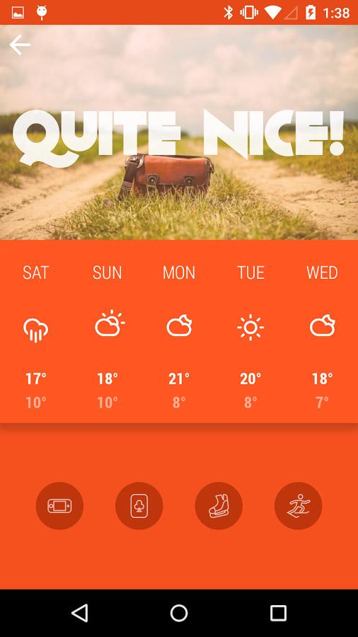 Kairoskopion – weather app with simple & beautiful design