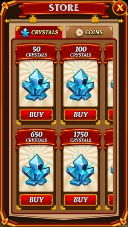 Kingdom Come - Purchase Crystals