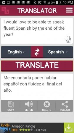 Translator - Translated Text