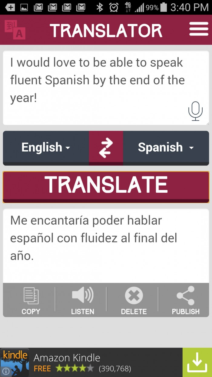 Translator – super simple to use voice language translation app