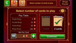 Bingo Bash - Select Number of Cards to Play