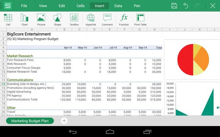WPS Office plus PDF - Excel Spreadsheet