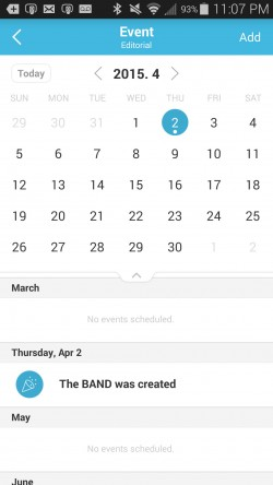 BAND The Ultimate Group App - Event Calendar