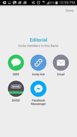 BAND The Ultimate Group App - Invite Members to Band