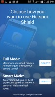 Hotspot Shield VPN Proxy WiFi - Choose Mode