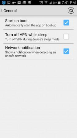 Hotspot Shield VPN Proxy WiFi - Settings