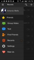 Rounds Video Chat - Menu