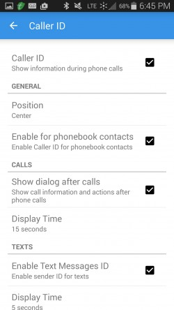 SyncME Caller ID and Block - Caller ID Settings