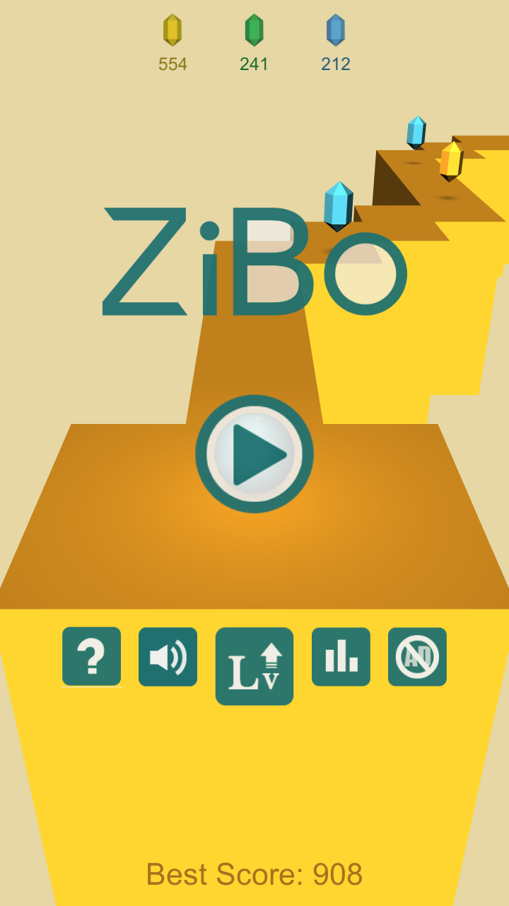 ZiBo – 3D ZigZag Ball Game