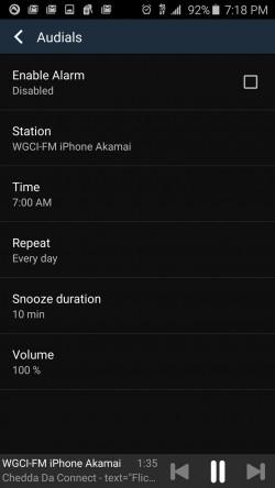 Audials Radio - Alarms
