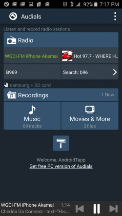 Audials Radio - Home Screen
