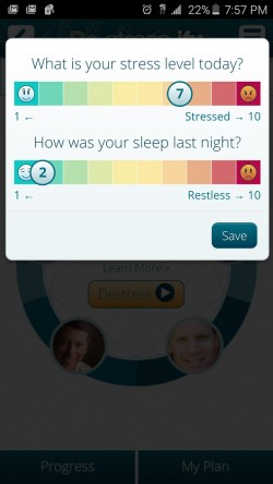 DeStressify - Stress and Sleep Levels