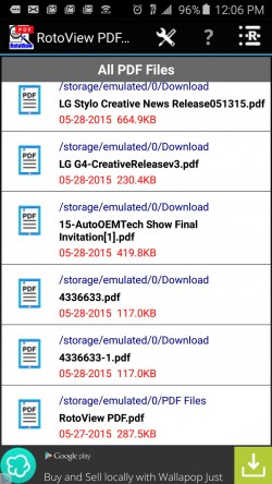 RotoView PDF Reader - All PDFs on Device