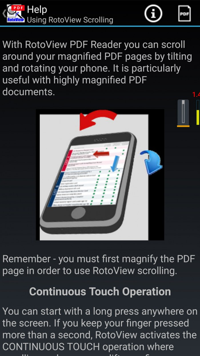RotoView PDF Reader – tilt & scroll PDF documents
