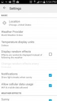 Weatherback Wallpaper - Settings 1