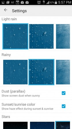 Weatherback Wallpaper - Settings 2