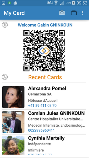 LinkCard – share content info with QR codes