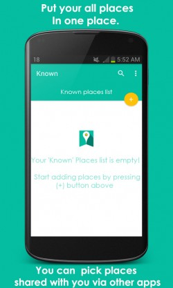 Known Places Bookmarking 2