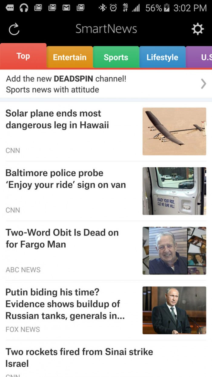 SmartNews – elegant app aggregates top news for you