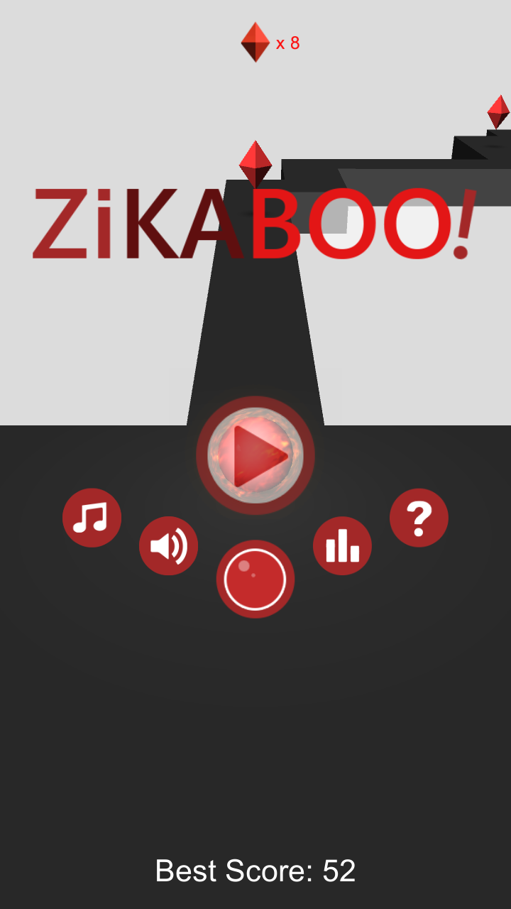 ZiKaBoo! 3D ZigZag endless ball runner game