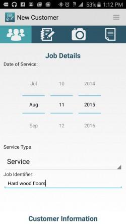 JobFLEX Contractor Estimate and Proposal - Add New Customer