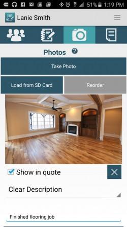 JobFLEX Contractor Estimate and Proposal - Add Photos