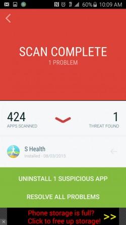 Security Suite Free Antivirus - False Positive Threat Found