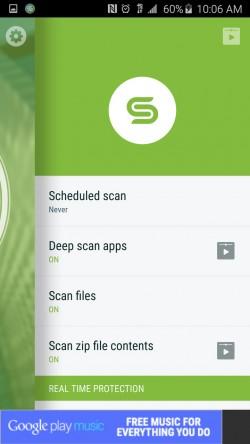 Security Suite Free Antivirus - Menu
