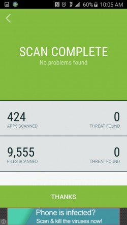 Security Suite Free Antivirus - Quick Scan Results