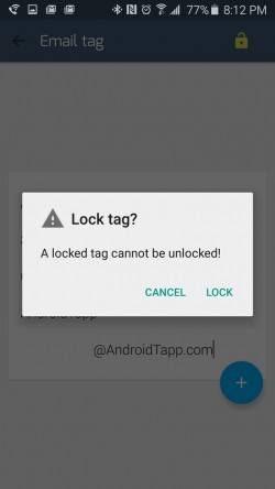 TagCom - Tag Lock