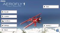 Aerofly 1 Flight Simulator - Start Screen