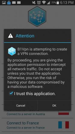 B1Vpn - Accept Disclaimer