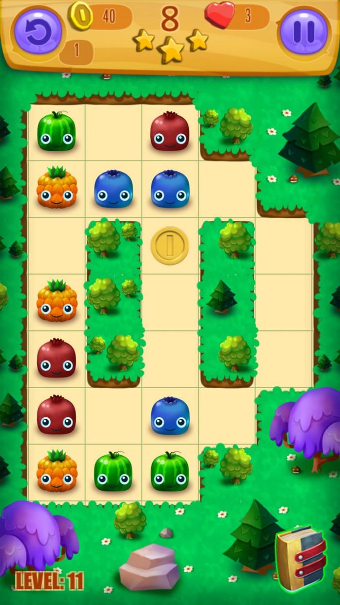Juicy Blast: Fruit Saga. Adorable yet highly challenging puzzler