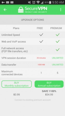 SecureVPN - Upgrade After Free Trial