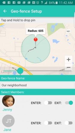 Family Orbit - Geo-fence