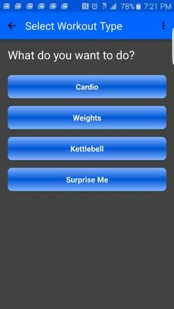 Random Workout Generator - Select Workout