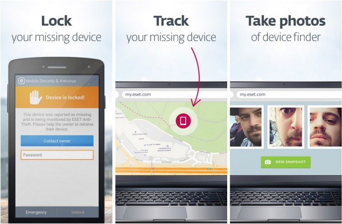 ESET Mobile Security - Lock Track and Take Photos