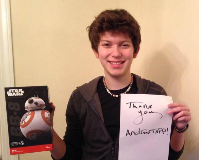 J Gibbs - Winner of BB-8 Sphero Droid