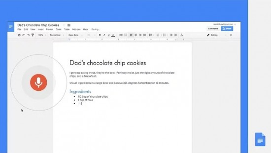 You can now use your voice to Type, Edit & Format Google Docs