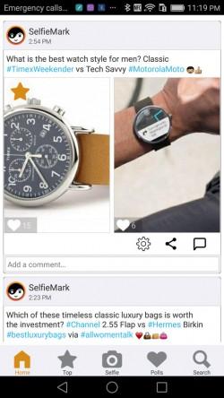 SelfieMark - Feed 1