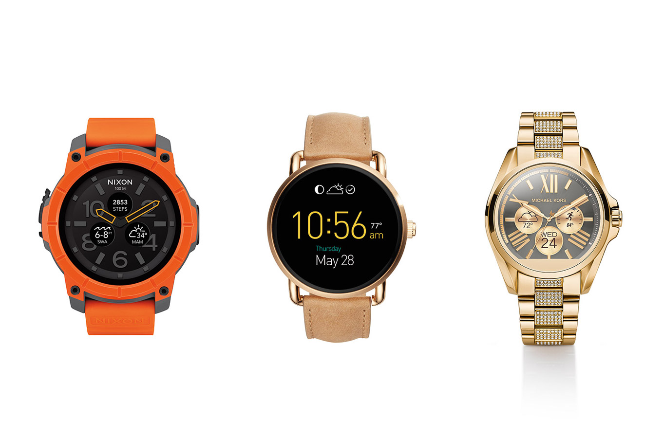 michael kors fossil and nixon android wear watches