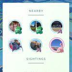 Pokemon Go - Nearby Sightings