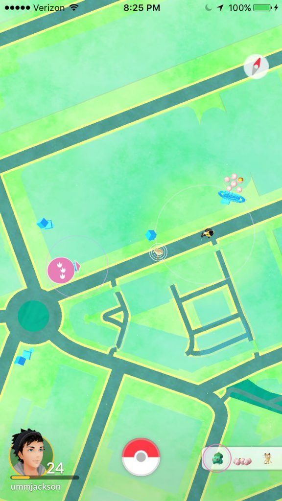 Pokemon Go - Nearby on Map 2