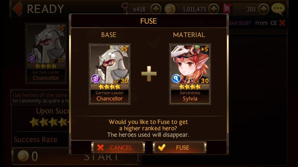 Seven Knights - Fuse 5 Star Level 30 Heroes