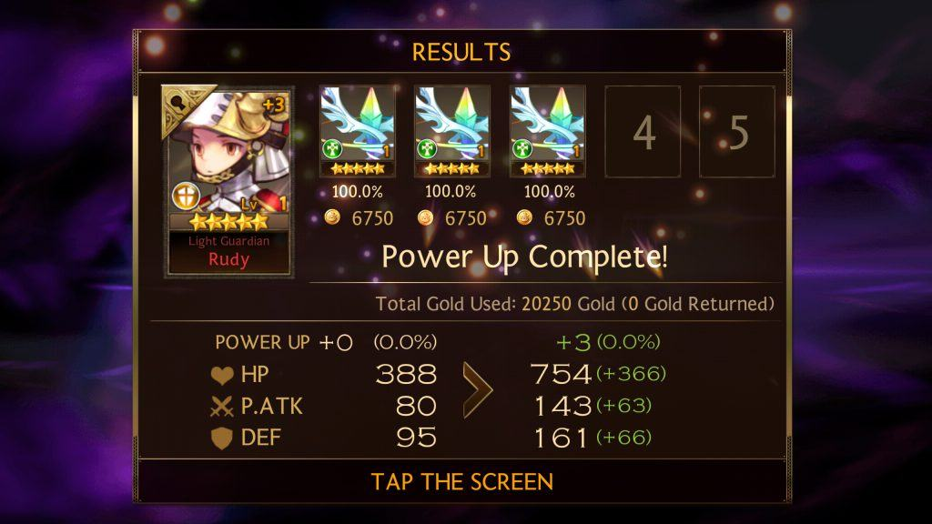 Seven Knights - Power Up Results
