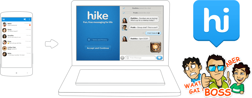 Hike download from play store