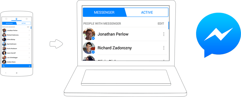 how to download messenger app on pc