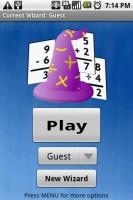 MathWizard Start Screen